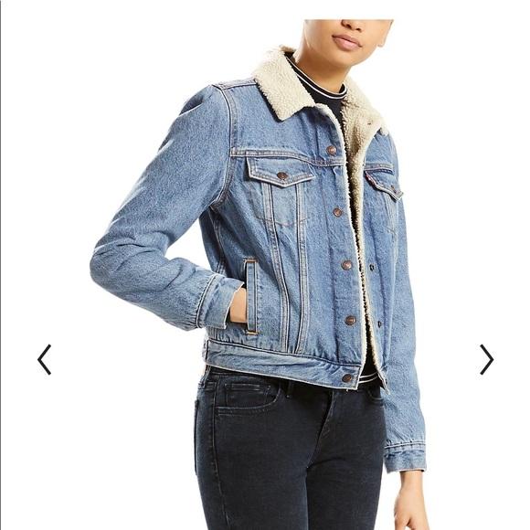 Levi's premium Sherpa lined denim jacket